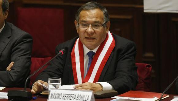 DEFIENDE SU FUERO. Herrera advierte que fallo del TC va más allá. (Mario Zapata)