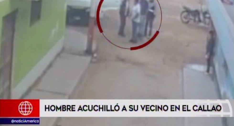 Acuchillado en el Callao. (Foto: Captura de video / América Noticias)