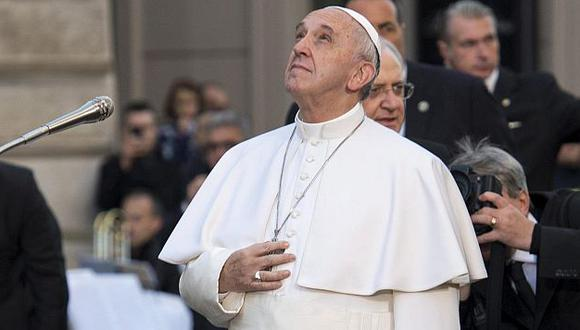 Se pronunció al término de una misa privada matutina en su residencia.