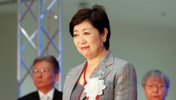 La gobernadora de Tokio, Yuriko Koike, acudió al acto inaugural junto con el príncipe heredero de Japón, Naruhito, y su esposa Masako. (Foto: EFE)