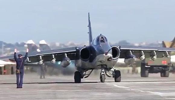 Aviones rusos de los destinados al ataque al Estado Islámico (Ministerio de Defensa de Rusia)