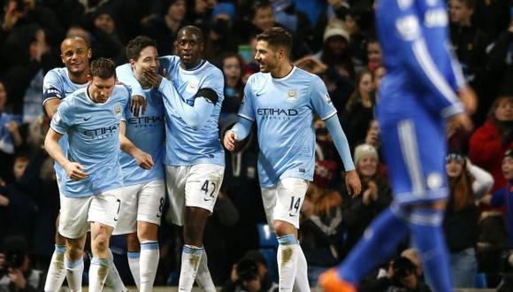 Manchester City se cobró la revancha con el Chelsea. (Reuters)