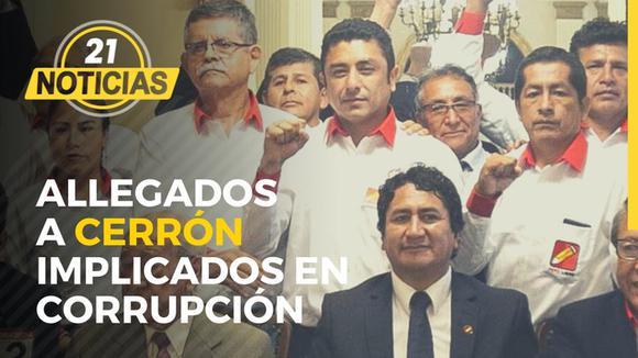 Allegados a Cerrón implicados en corrupción