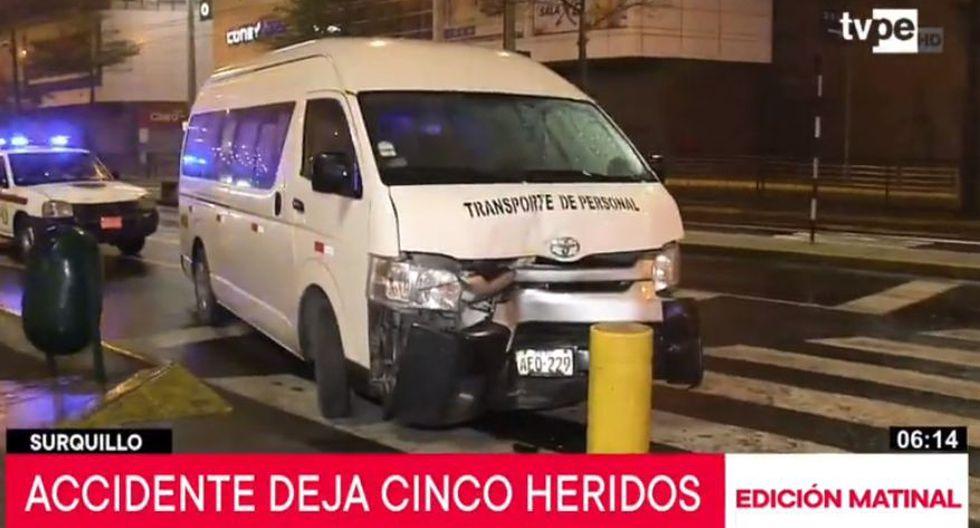 El accidente ocurrió a las 02:31 a.m., y al lugar llegaron unas cuatro unidades de los bomberos. (Captura: TV Perú Noticias)