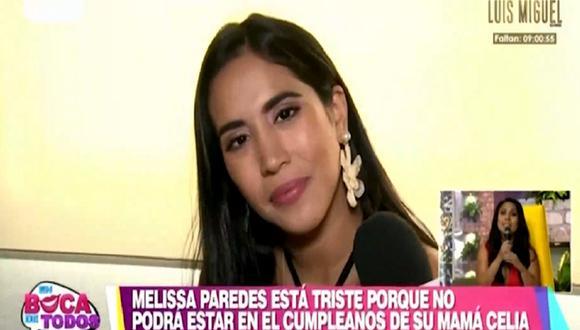 Melissa Paredes habla de lo dificil que es vivir alejada de su familia tras mudarse a México. (Foto: Captura América TV)