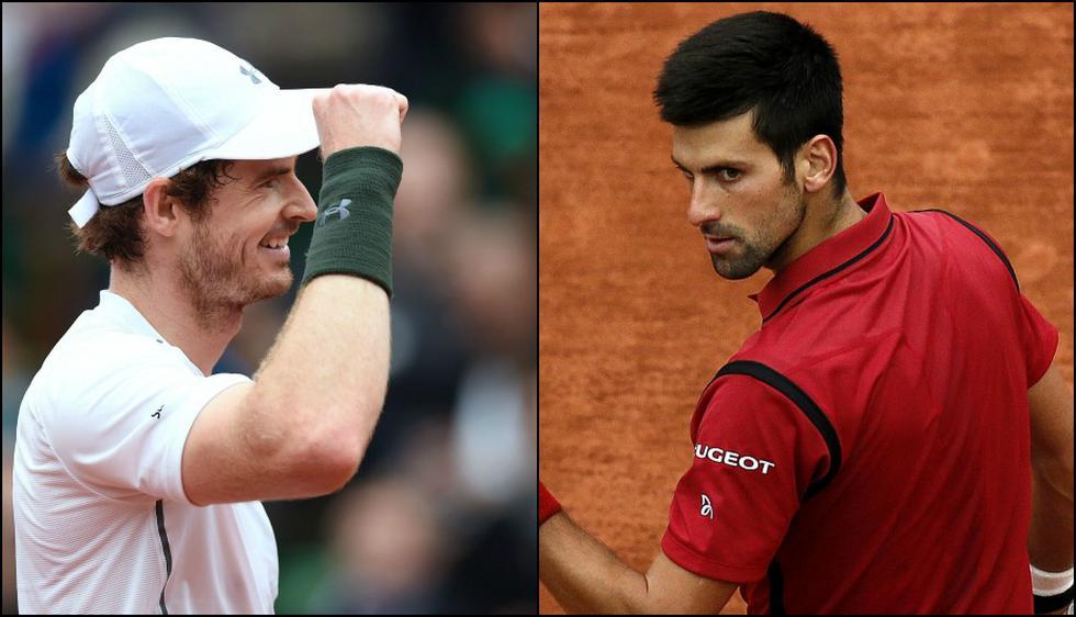 Novak Djokovic vs. Andy Murray se medirán este domingo.  (EFE/AFP)