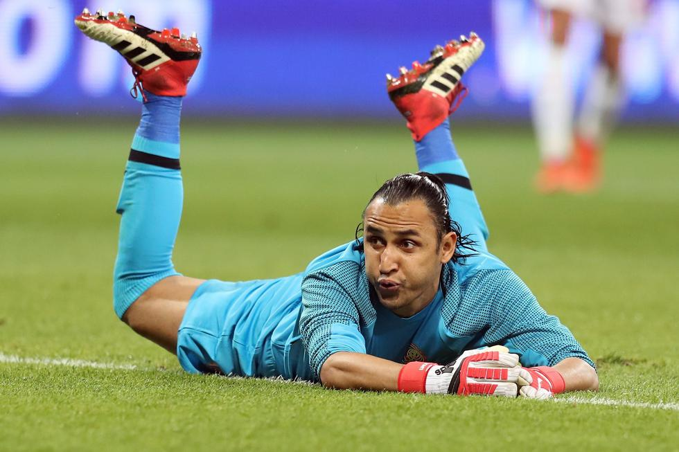 Con Navas en cancha, Real Madrid empató 1-1 este domingo frente al Atlético de Madrid. (AFP)