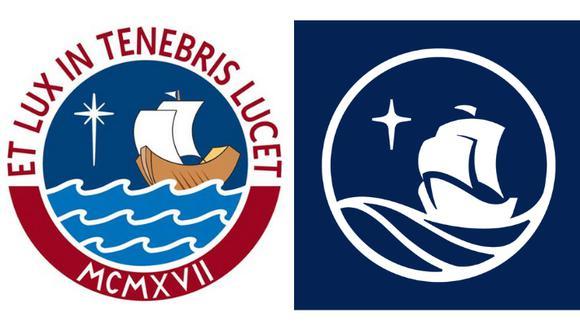 Transformación del logo de la PUCP en el año del Bicentenario. Foto: composición