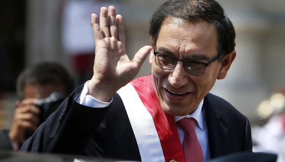 Presidente Martín Vizcarra mantiene su aprobación por encima del 60%. (GEC)