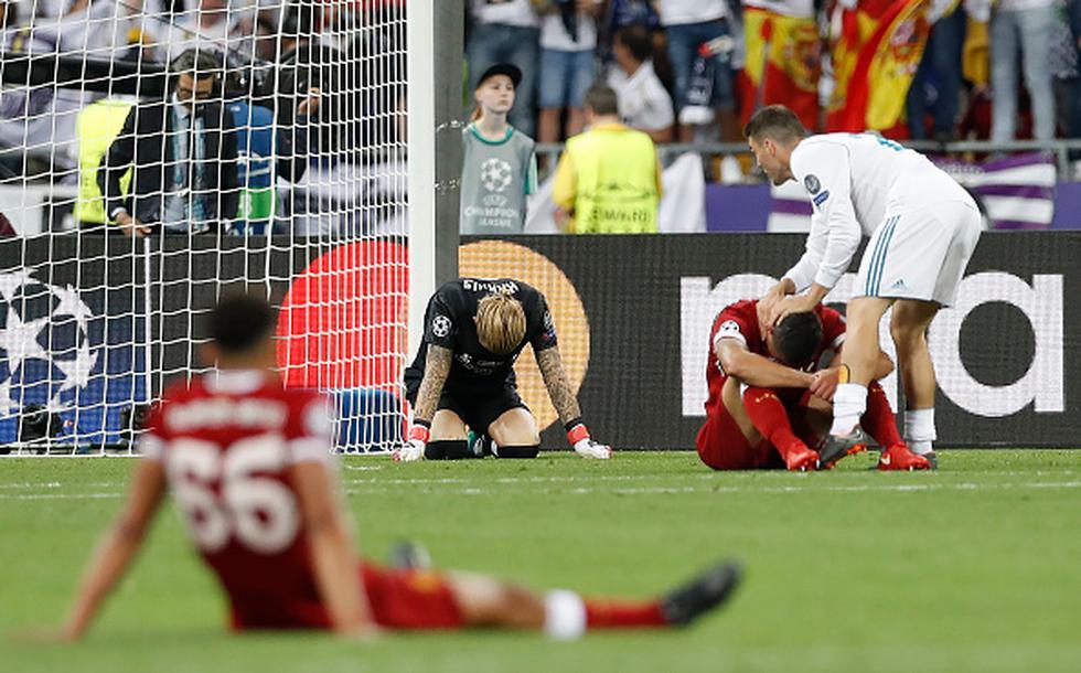 Karius sufrió un golpe tras disputar el balón con Ramos y después del incidente cometió dos graves errores que favorecieron a Real Madrid.