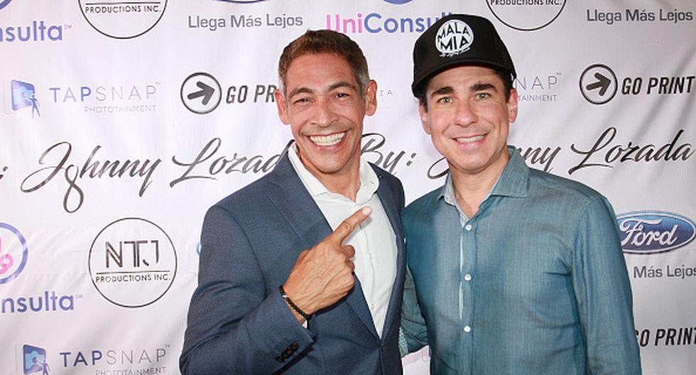 Johnny Lozada y Ricky Melendez en una inolvidable imagen para los fans de Menudo. (Getty)