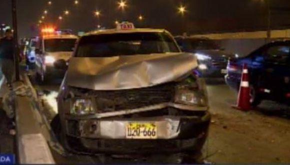 Los accidentes se produjeron durante la madrugada. (Foto: Captura/Canal N)