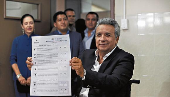 Lenín Moreno impulsó referendo que lo enfrentó con Rafael Correa. (USI)