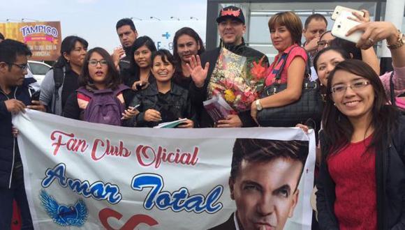 Cristian Castro tuvo una calurosa bienvenida en Arequipa. (Difusión)
