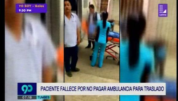 Víctor Manuel Medina Correa necesitaba ser trasladado a un hospital por un problema respiratorio. (Latina)