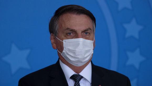 El presidente de Brasil, Jair Bolsonaro, participa en una ceremonia en el Palacio do Planalto, en la ciudad de Brasilia. EFE/ Joédson Alves
