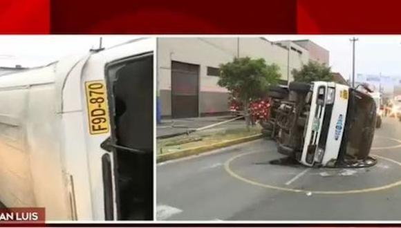 Accidente dejó al menos seis heridos. (Foto: Captura/América Noticias)