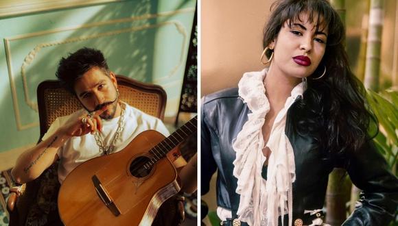 """Camilo interpretó la famosa canción de Selena Quintanilla, """"Como la flor"""". (Foto: Instagram / @camilo / @selena_quintanilla)."""