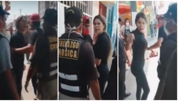 Venezolana agredió verbalmente a serenos de Chosica. (Composición)