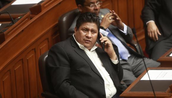 El congresista Glider Ushñahua fue denunciado por su ex pareja por agresión física. (Foto: GEC)