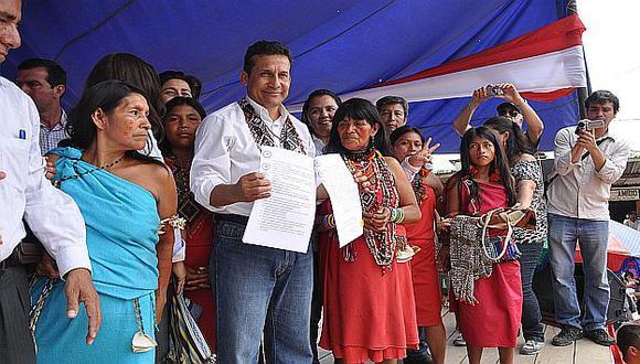 En septiembre del año pasado, Humala promulgó en Bagua Ley de Consulta Previa. (USI)