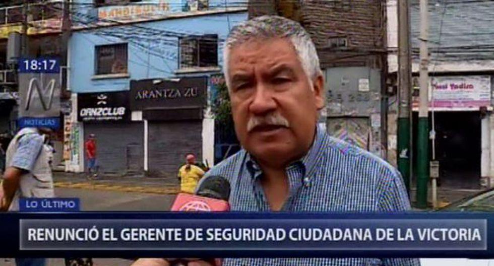 Gerente de Seguridad Ciudadana de La Victoria renunció. (Foto: Canal N)