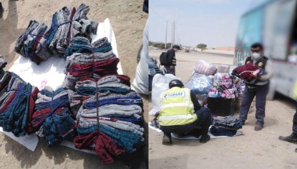 Chiclayo: incautan más de 10 mil soles en etiquetas y ropa de dudosa procedencia