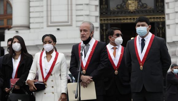 La bancada de Fuerza Popular anunció que no se reunirá con el premier Guido Bellido incluso si fueran convocados (Anthony Niño de Guzmán /GEC).