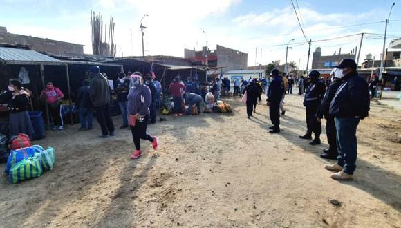 Piura: Doscientos ambulantes son desalojados por invadir y generar aglomeraciones en mercado paiteño (Foto: Municipalidad de Paita)