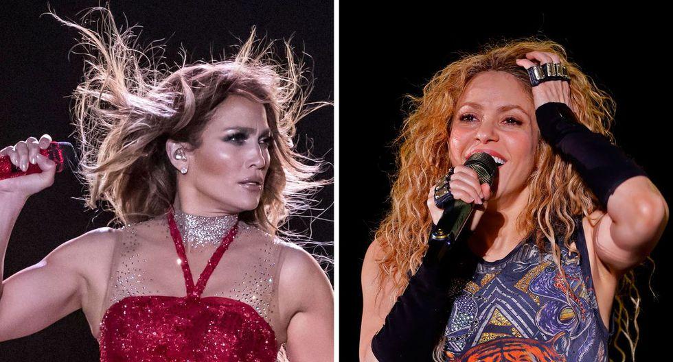 Jennifer Lopez y Shakira serán las primeras latinas en estar juntas en este tipo de evento (Foto: AFP)