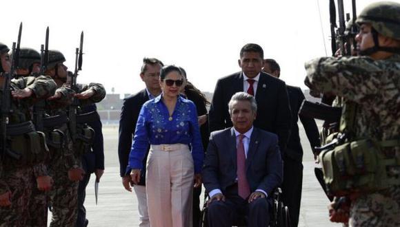 Presidente ecuatoriano, Lenín Moreno, ya se encuentra en Trujillo. Mañana se reunirá con PPK.