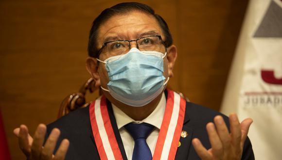 """""""Le hemos pedido a la ministra de Salud que se sirva dictar normas sanitarias para las campañas políticas"""".  Foto: JOSE ROJAS BASHE"""