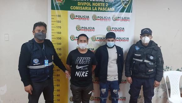 Los raqueteros fueron llevados a la comisaría de  La Pascana, en Comas. (Foto: Municipalidad de Comas)