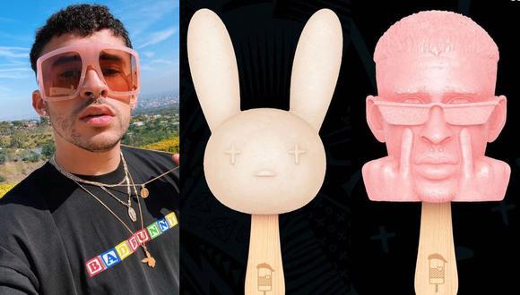 Bad Bunny: Empresa de helados lanzará productos con su imagen. (Foto: @badbunnypr/@srpaleta)