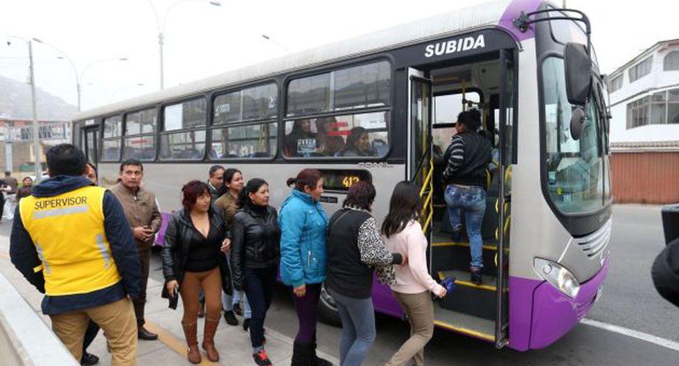 Para atender la gran demanda de los usuarios ampliarán ruta del corredor San Juan de Lurigancho. (USI)
