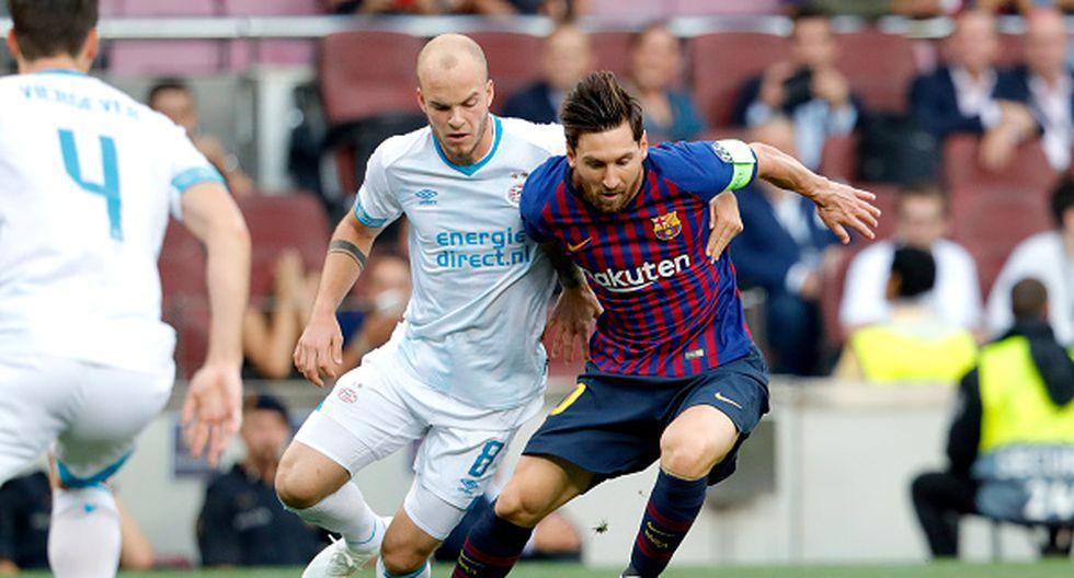 Con Messi en la cancha. Barcelona vs. PSV se enfrentan por la fecha 1 del grupo B de la Champions League. (Getty)