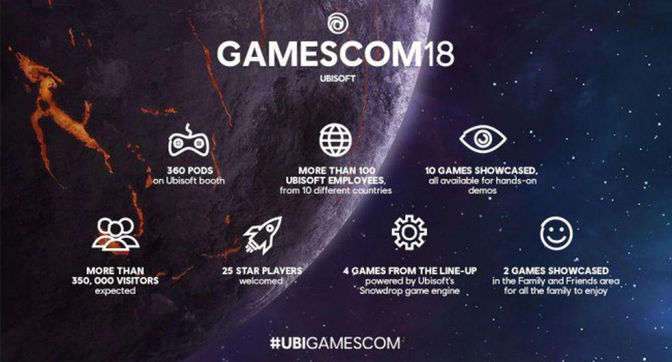 Ubisoft ha revelado la lista de títulos que llevará a la Gamescom este año.