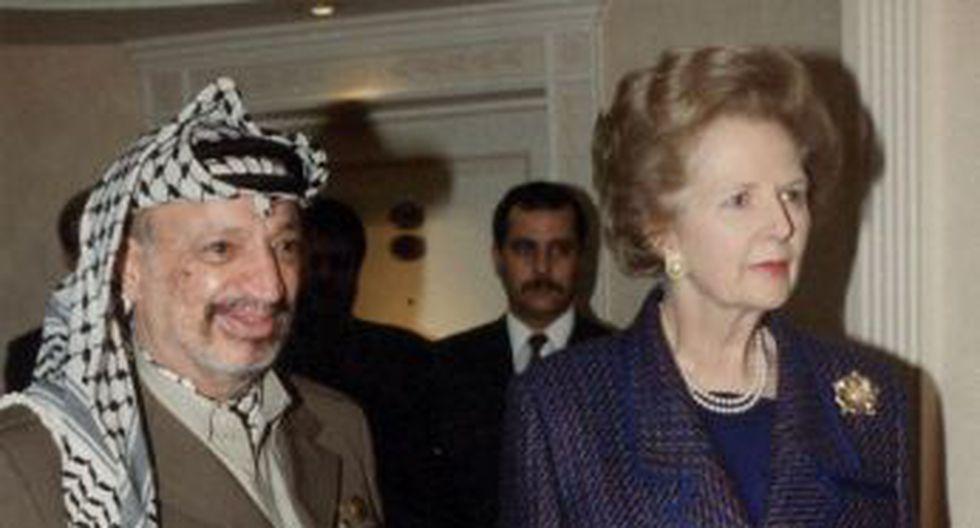 En 1993 recibió al fallecido líder palestino Yasser Arafat en Londres. (AFP)