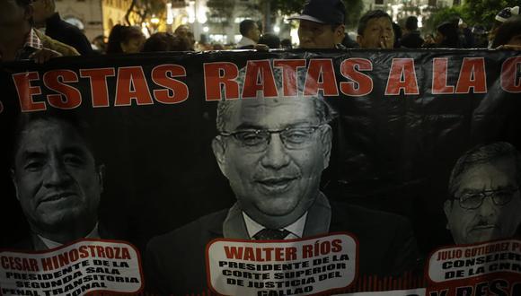 Marcha contra jueces y miembros del CNM se desarrolla en el Centro de Lima. (Luis Centurión/Perú21)
