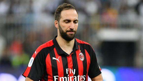 Gonzalo Higuaín dejará Milan apenas seis meses después de haber llegado. (Foto: Reuters)