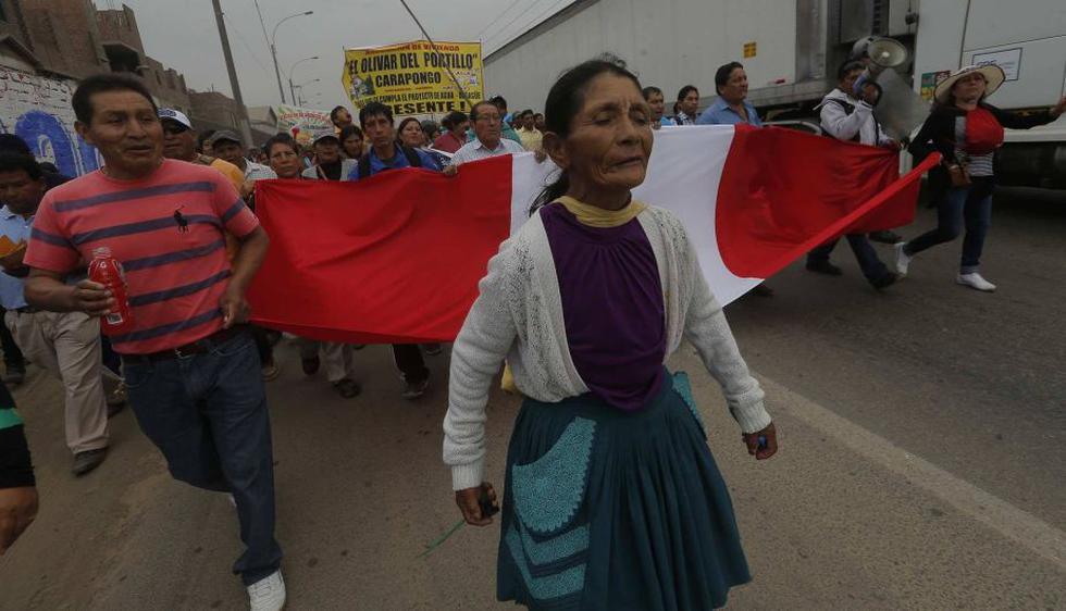 Se estima que hay cerca de 15,000 personas protestando (David Huamaní /Perú21)