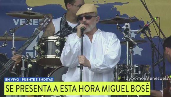 Miguel Bosé se presentó en el Venezuela Aid Live. (Foto: Captura)
