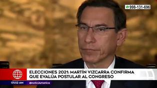 Elecciones 2021: Martín Vizcarra confirmó estar evaluando su postulación al Congreso