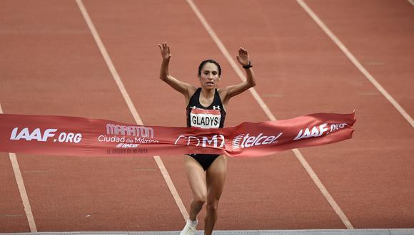 Gladys Tejeda batió su propio récord que impuso en esta competición en 2013. (AFP)