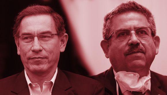 Martín Vizcarra  y Manuel Merino. (Foto: El Comercio)