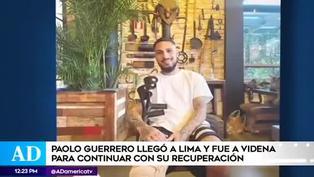 Paolo Guerrero comenzó su recuperación en la Videna