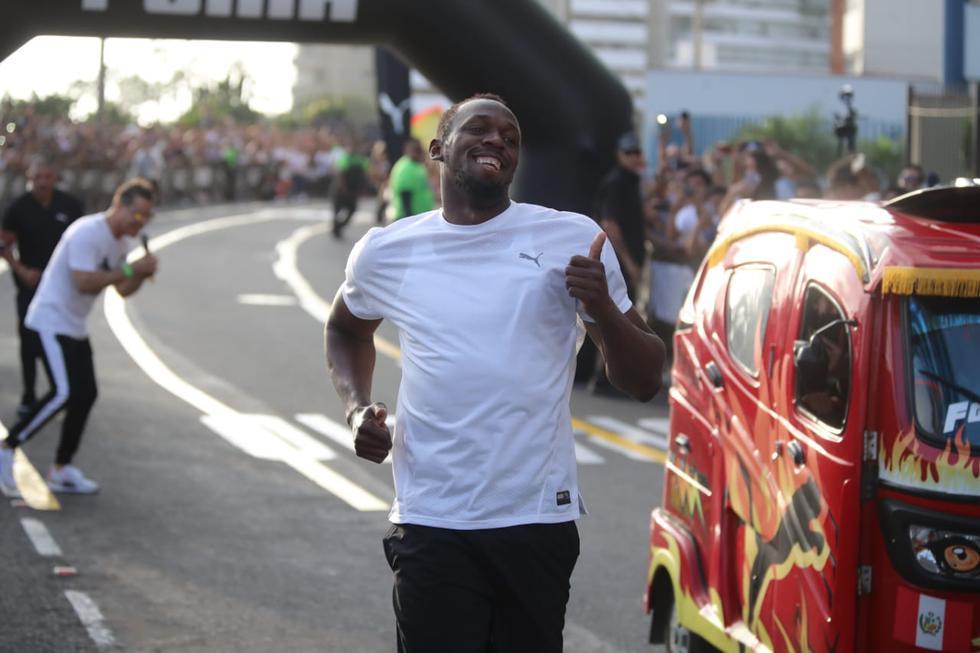 Usain Bolt venció a mototaxi en una carrera en Lima y se animó a manejarla. (Giancarlo Avila / GEC)