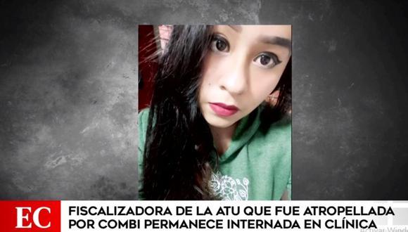 Jaqueline Rosales Ramírez permanece internada en una clínica tras ser atropellada por una combi. (América Televisión)