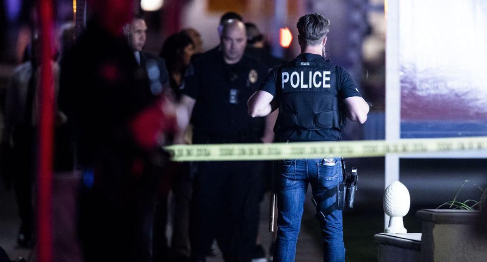 Imagen de policías en Estados Unidos, el 31 de marzo de 2021. (EFE/EPA/ETIENNE LAURENT).