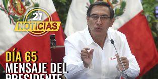 Día 65: Mensaje a la nación del Presidente Vizcarra
